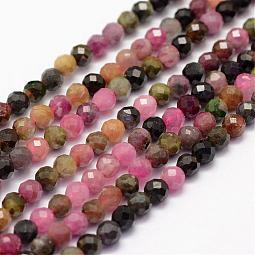 Natural Tourmaline Beads Strands US-G-F460-31