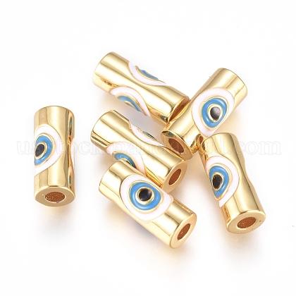 Brass Enamel BeadsUS-KK-L189-20G-1