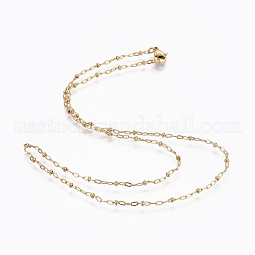304 Stainless Steel Cable Chain Necklaces US-NJEW-F248-07A-G