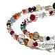 Mixed Electroplate Glass Beads StrandsUS-EGLA-A003-01-3