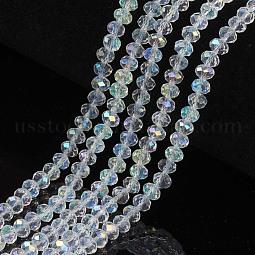 Electroplate Glass Beads Strands US-EGLA-A034-T2mm-L19