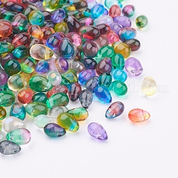 Transparent Glass Beads US-GLAA-F066-02M
