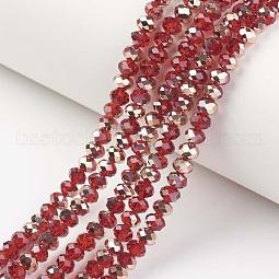 Electroplate Transparent Glass Beads Strands US-EGLA-A034-T10mm-N12