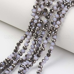 Electroplate Glass Beads Strands US-EGLA-A034-J6mm-P01