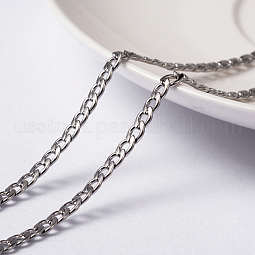 Vacuum Plating 304 Stainless Steel Twisted Chain Curb Chains US-CHS-H007-29P
