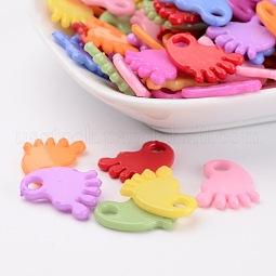 Baby Shower Ornaments Acrylic Baby Feet Pendants US-PAB215Y