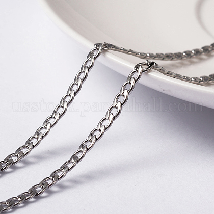 Vacuum Plating 304 Stainless Steel Twisted Chain Curb ChainsUS-CHS-H007-29P-1