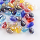 AB-Color Plated Teardrop Glass BeadsUS-EGLA-R104-5x7-1