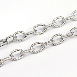 304 Stainless Steel Textured Cable Chains US-CHS-O005-67