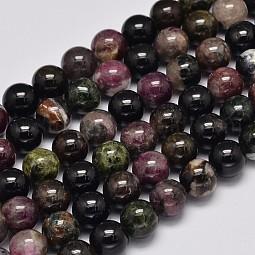 Round Natural Tourmaline Beads Strands US-G-K068-13-8mm