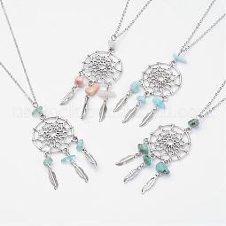 Alloy Pendant Necklaces US-NJEW-JN01792