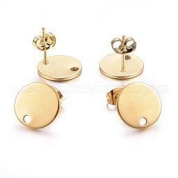 304 Stainless Steel Stud Earring Findings US-X-STAS-K184-01-03G