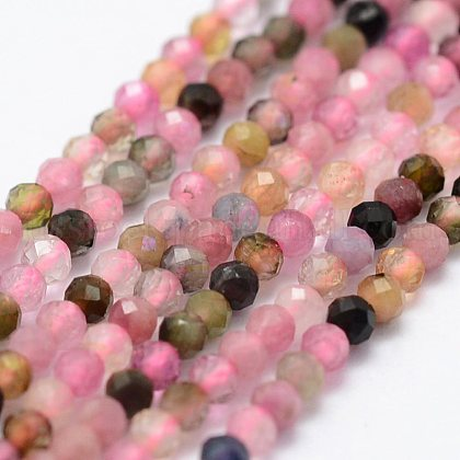 Natural Tourmaline Beads StrandsUS-G-K185-14B-1