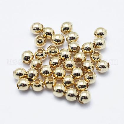 Brass BeadsUS-KK-G331-52G-3mm-NF-1