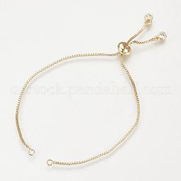 Brass Slider Bracelets Making US-MAK-R025-02G