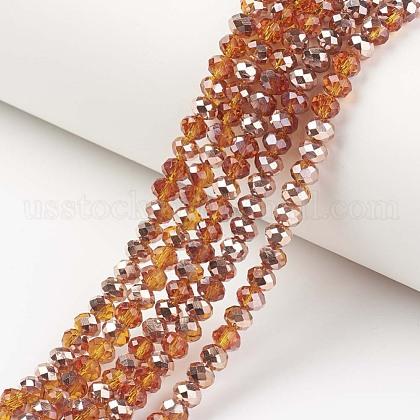 Electroplate Transparent Glass Beads StrandsUS-EGLA-A034-T10mm-N13-1