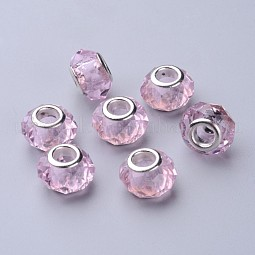 Handmade Glass European Beads US-GPDL25Y-29
