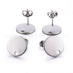 Vacuum Plating 304 Stainless Steel Stud Earring Findings US-STAS-K184-01-03P