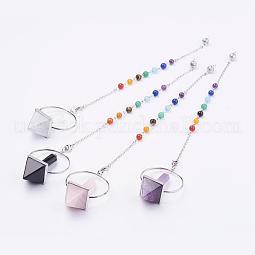 Chakra Dowsing Pendulum Natural & Synthetic Mixed Stone Pendants US-G-F515-01