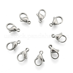 304 Stainless Steel Lobster Claw Clasps US-STAS-AB11-1