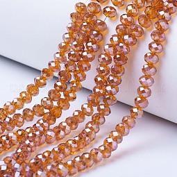 Electroplate Glass Beads Strands US-EGLA-A034-T10mm-A07