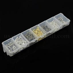 1 Box 140PCS 4 Color Zinc Alloy Lobster Claw Clasps US-PALLOY-X0009-NF-B