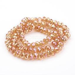 Electroplate Glass Beads US-EGLA-S015-1