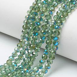 Electroplate Glass Beads Strands US-EGLA-A034-T10mm-I01