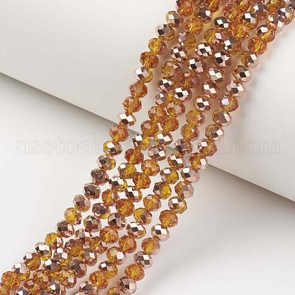 Electroplate Transparent Glass Beads StrandsUS-EGLA-A034-T6mm-N16-1