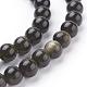 Natural Golden Sheen Obsidian Beads StrandsUS-G-C076-6mm-5-3