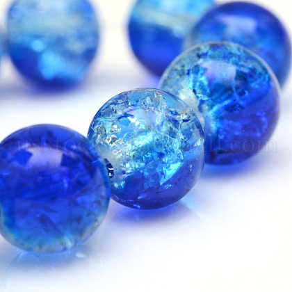 Baking Painted Crackle Glass Bead StrandsUS-CCG-S001-6mm-16-1