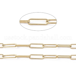Vacuum Plating 304 Stainless Steel Paperclip Chains US-CHS-L022-02P-G