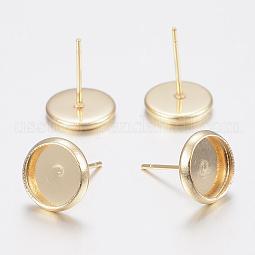 304 Stainless Steel Stud Earring Settings US-STAS-H436-20D