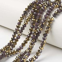 Electroplate Glass Beads Strands US-EGLA-A034-J6mm-O05