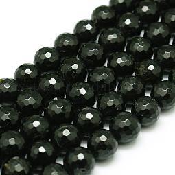 Natural Black Tourmaline Beads Strands US-G-C073-6mm-2