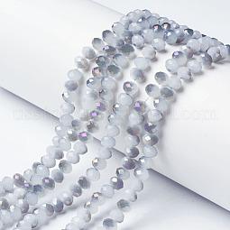 Electroplate Glass Beads Strands US-EGLA-A034-J6mm-F05