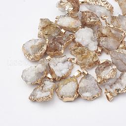 Natural Druzy Agate Pendants US-G-Q494-76F