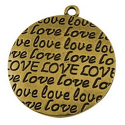 Ideas for Valentines Day Gifts for Him Zinc Alloy Pendants US-PALLOY-A15826-AG-LF