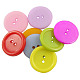2-Hole Solid Color Opaque Acrylic Flat Round Sewing Shank ButtonsUS-PAB227Y-1