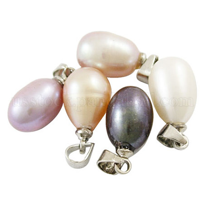 Valentine Day Ideas for Her Natural Freshwater Pearl PendantsUS-SPB001Y-1
